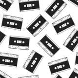 Cassette seamless pattern. Vintage background. Vector pattern design Stock Photography