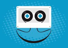 Cassette smiling Royalty Free Stock Photo
