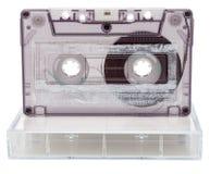 Cassette sonore analogue avec la boîte photos stock