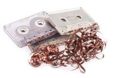 Cassette sonore avec l'embrouillement de bande image libre de droits