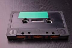 Cassette sonore avec l'espace pour l'enregistrement de texte Cassette sans description photographie stock
