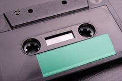 Cassette sonore avec l'espace pour l'enregistrement de texte Cassette sans description photographie stock libre de droits