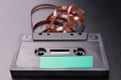 Cassette sonore avec l'espace pour l'enregistrement de texte Cassette sans description photos stock