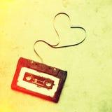 Cassette sonore avec la bande magnétique Photos stock