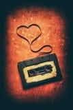 Cassette sonore avec la bande magnétique Image libre de droits