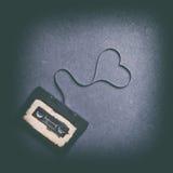 Cassette sonore avec la bande magnétique Photographie stock