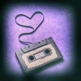Cassette sonore avec la bande magnétique Photographie stock libre de droits