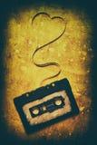 Cassette sonore avec la bande magnétique Images stock