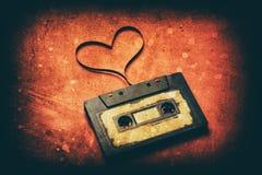 Cassette sonore avec la bande magnétique Photo stock