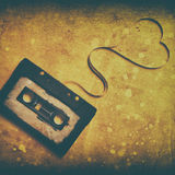 Cassette sonore avec la bande magnétique Photo libre de droits