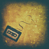 Cassette sonore avec la bande magnétique Photos libres de droits