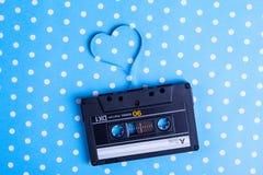 Cassette sonore avec la bande magnétique Images libres de droits