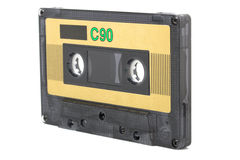 Cassette sonore (bande) d'isolement photographie stock