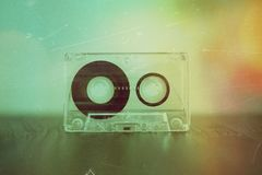 Cassette sonore sur le fond Images libres de droits
