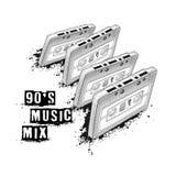 Cassette sonore, symbole de la rétro musique mélange de musique de 90 ` s pièce de 80 ` s Photographie stock
