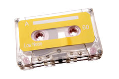 Cassette tape. Isolated over white stock photo
