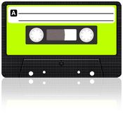 Cassette tape. Audio cassette tape with reflection royalty free illustration