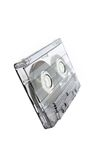Cassette tape. A cassette tape isolated on white royalty free stock photography
