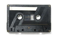 Cassette tape. A cassette tape isolated on a white background stock photo