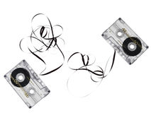 Cassette tape. Isolated on white background stock photo
