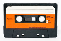 Cassette tape. Isolated on a white background Stock Photos