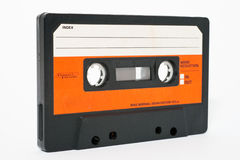 Cassette tape. Isolated on a white background stock images