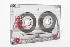Cassette tape. Isolated on a white background royalty free stock photos