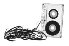 Cassette Tape. On White Background Royalty Free Stock Photography