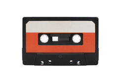 Cassette tape. Isolated on white background Royalty Free Stock Photo