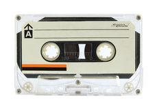 Cassette tape. Isolated on white with clipping path Royalty Free Stock Image