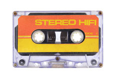 Cassette tape. Isolated on white with clipping path stock image