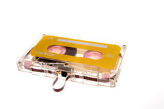 Cassette tape. Isolated over white royalty free stock photos
