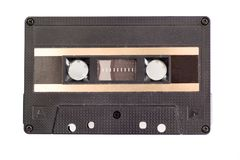 Cassette tape. Isolated on white royalty free stock photo