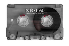 Cassette Tape. Isolated on white Royalty Free Stock Image
