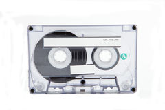 Cassette Tape. A cassette tape against a white background stock image