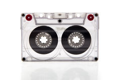 Cassette tape on background. Royalty Free Stock Photo