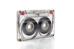 Cassette tape on background. Cassette tape on white background royalty free stock photos
