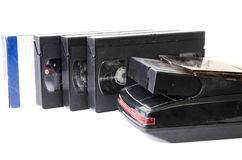 Cassette tape on black background Royalty Free Stock Image