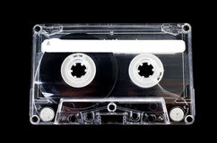 Cassette tape on black background Royalty Free Stock Photos