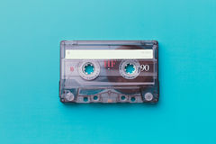 Cassette tape. On colorful background royalty free stock images
