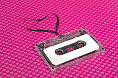 Cassette tape with heart Stock Photo