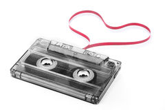 Cassette tape with heart shape tape Stock Image