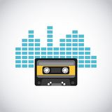 Cassette tape icon Royalty Free Stock Image