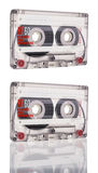 Cassette tape isolated on white background Stock Images