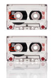 Cassette tape isolated on white background Royalty Free Stock Images