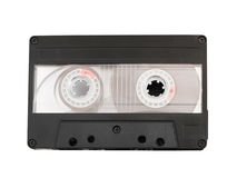 Cassette tape isolated on white. Background Stock Photography