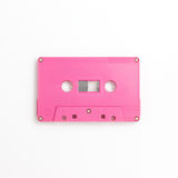 Cassette tape. Isolated on white background royalty free stock photography