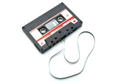 Cassette tape isolated on white with clipping path Stock Photo