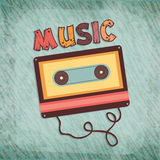 Cassette tape for music. Royalty Free Stock Photo