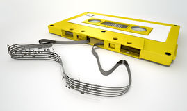 Cassette Tape And Musical Notes Concept Royalty Free Stock Photo